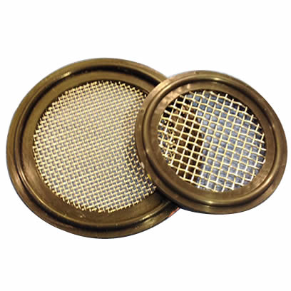 Two screen gaskets with metallic gasket and different mesh sizes.
