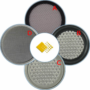 Four kinds of screen gaskets are rubber gasket with wire mesh, rubber gasket with perforated metal plate, metal gasket with perforated metal plate and metal gasket with wire mesh.
